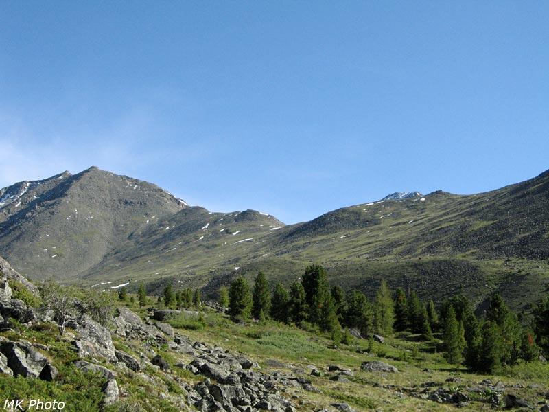 Вид на перевал Олимпийский