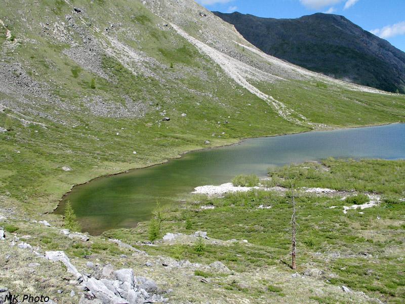 Залив на нижнем озере в месте впадения Архата