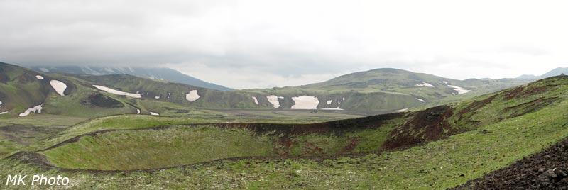 Панорама кратера