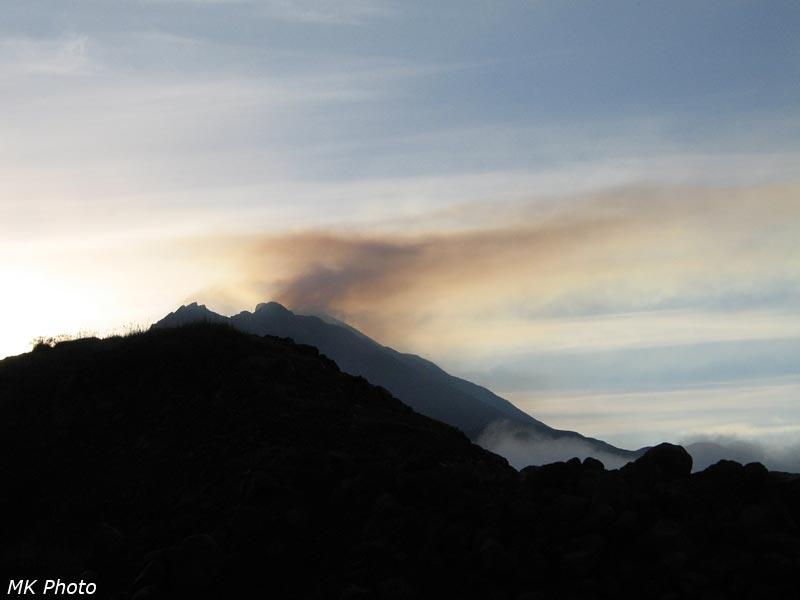 Дымы вулкана Безымянный