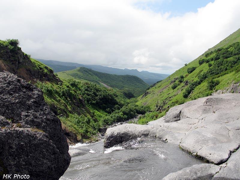 Ручей Бараний перед водопадом
