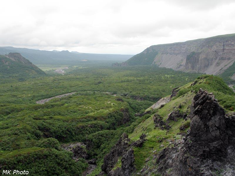 Вид вниз по долине Студёной