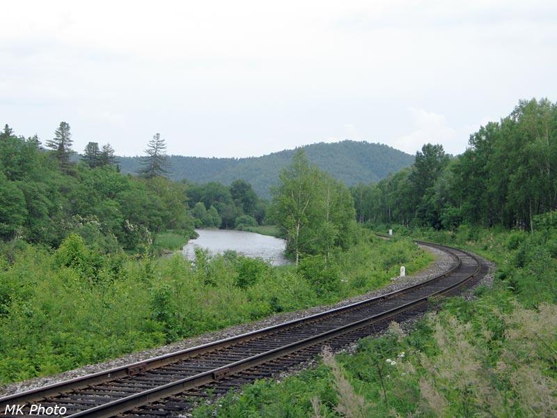 Железная дорога и р. Кульдур