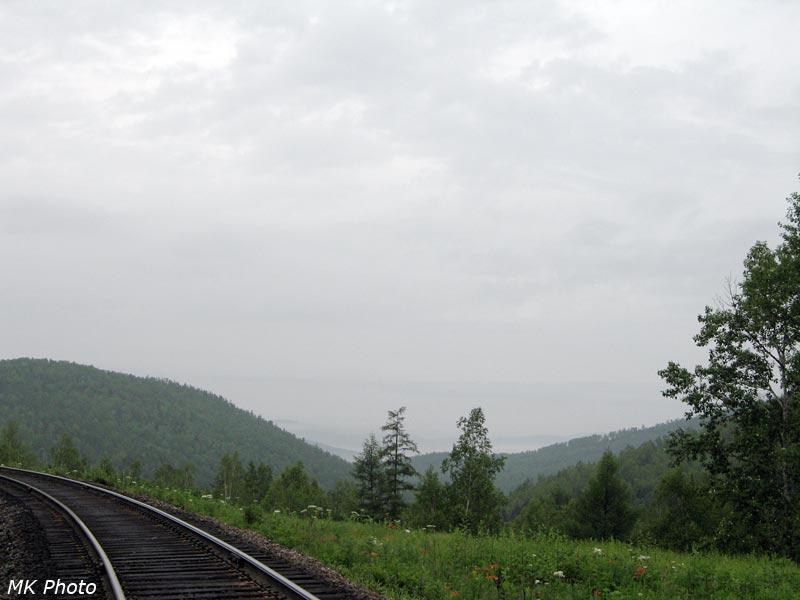 Вид с перевала через Малый Хинган на долину р. Кульдур внизу