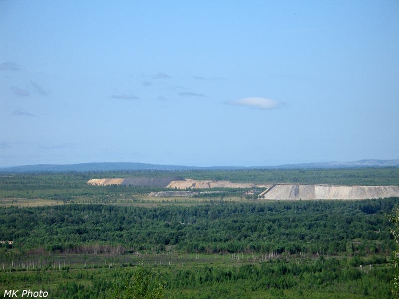 Отвалы угольных карьеров