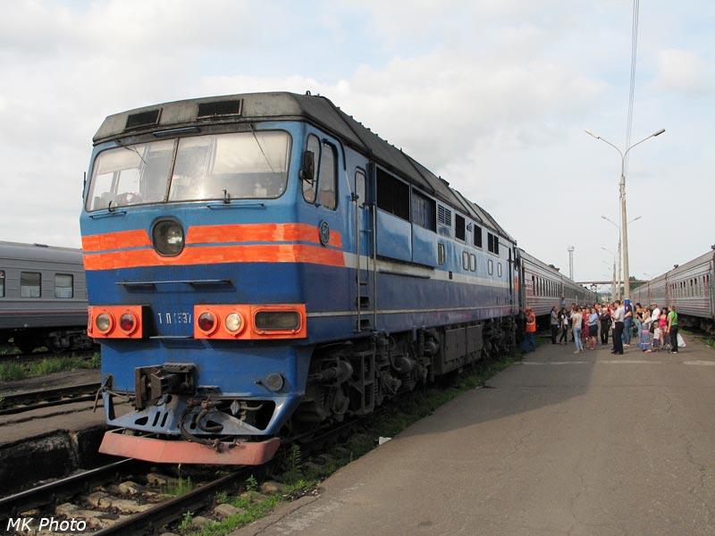 Поезд Комсомольск - Тында под ТЭП70