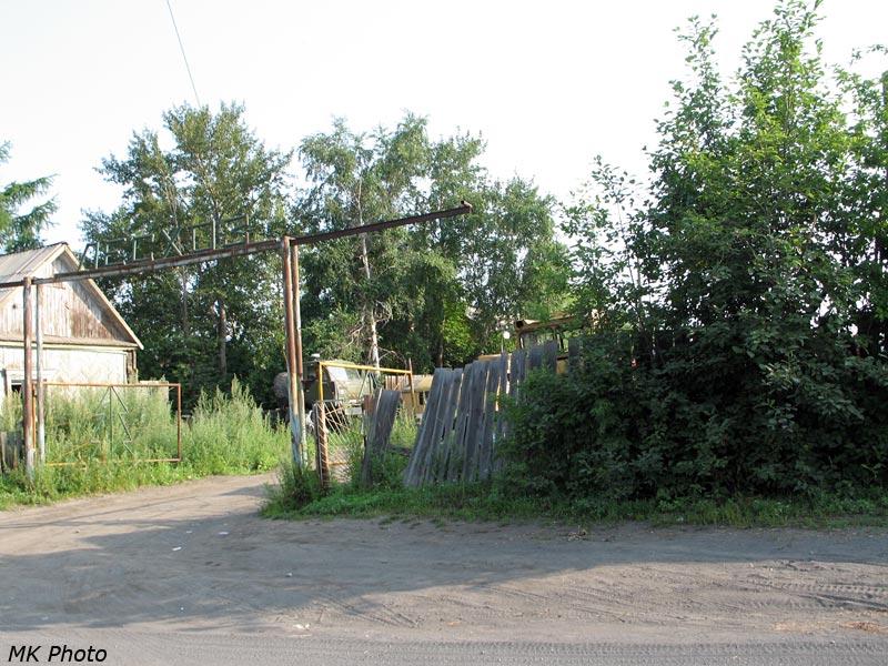 Ворота бывшего лесхоза