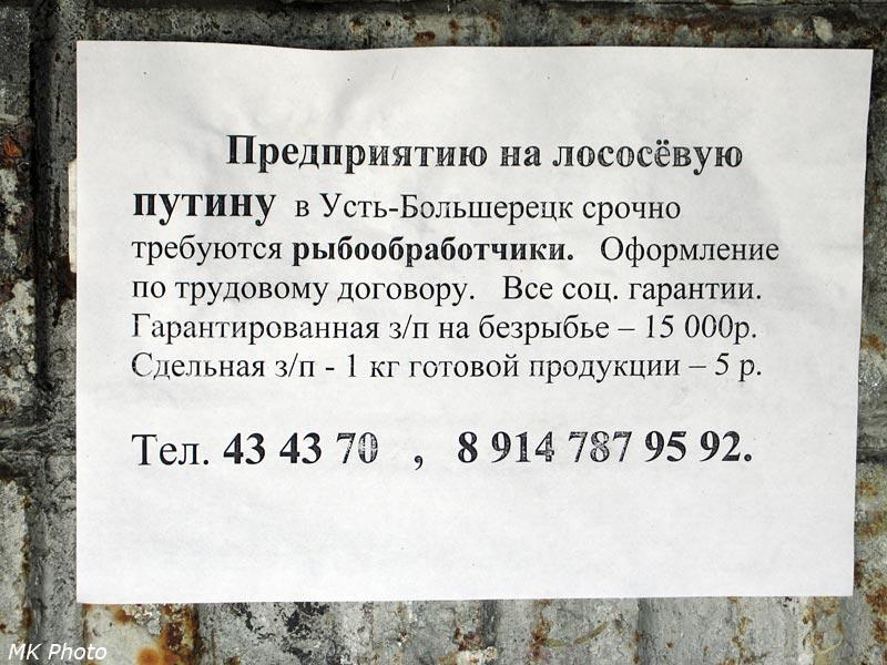 Объявление на остановке