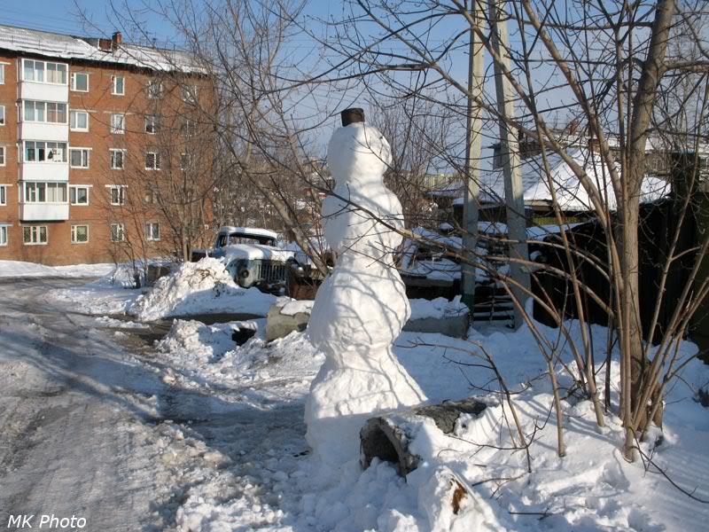 Снеговик в м/р Юбилейный