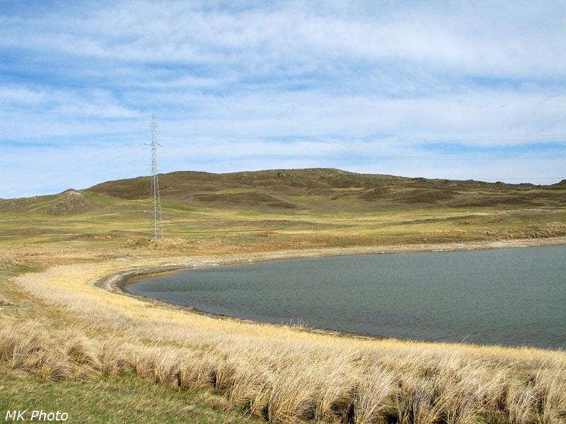 Солёное озеро в Тажеранской степи