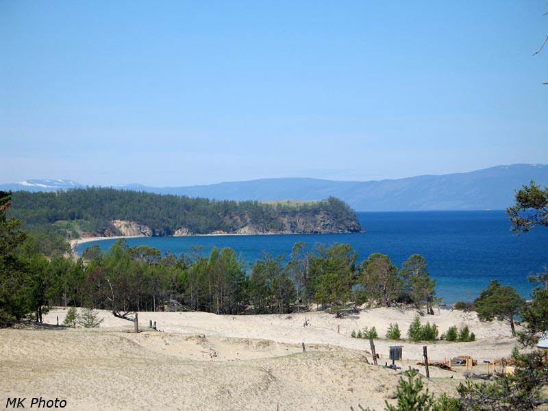 Песчаные гребни на фоне м. Нюрганский