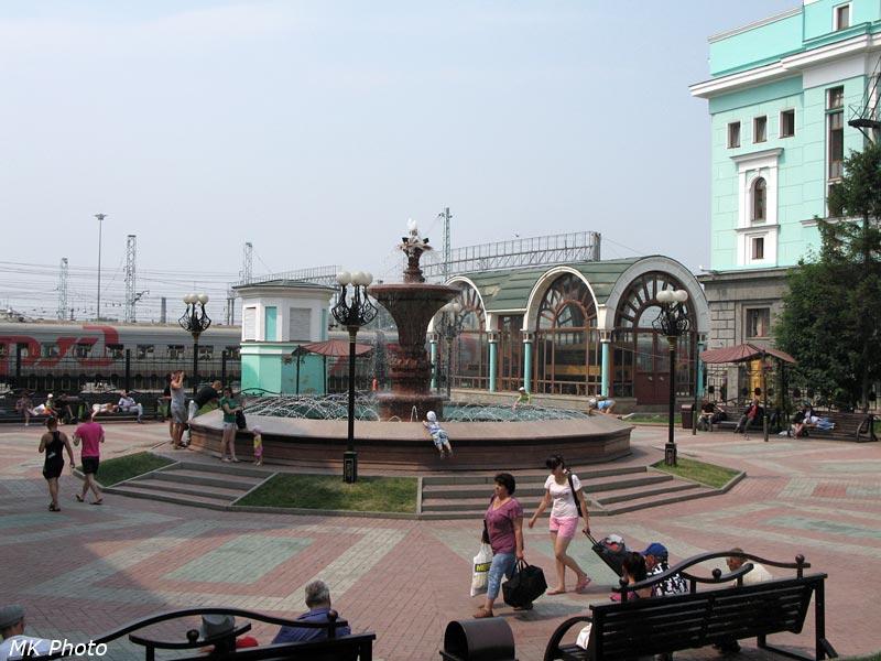 Фонтан у новосибирского вокзала