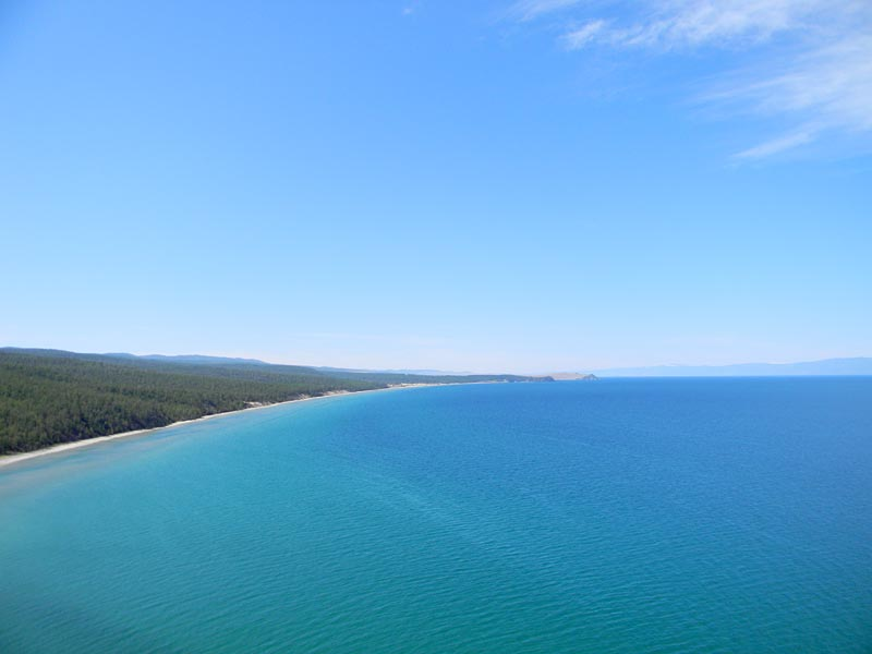 Вид с м. Саса на залив Нюрганская Губа
