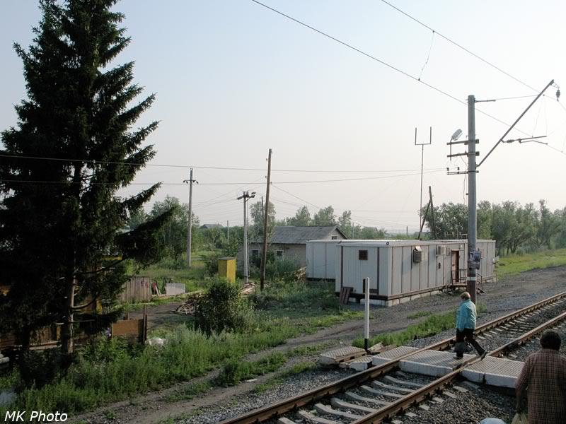 Модульное служебное здание на ст. Логовушка