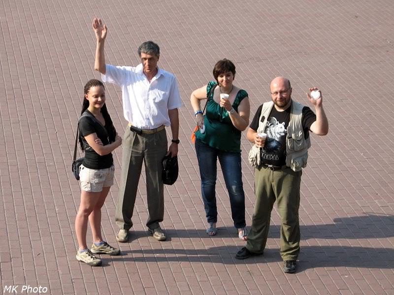 Катя, Андрей и Костя с супругой