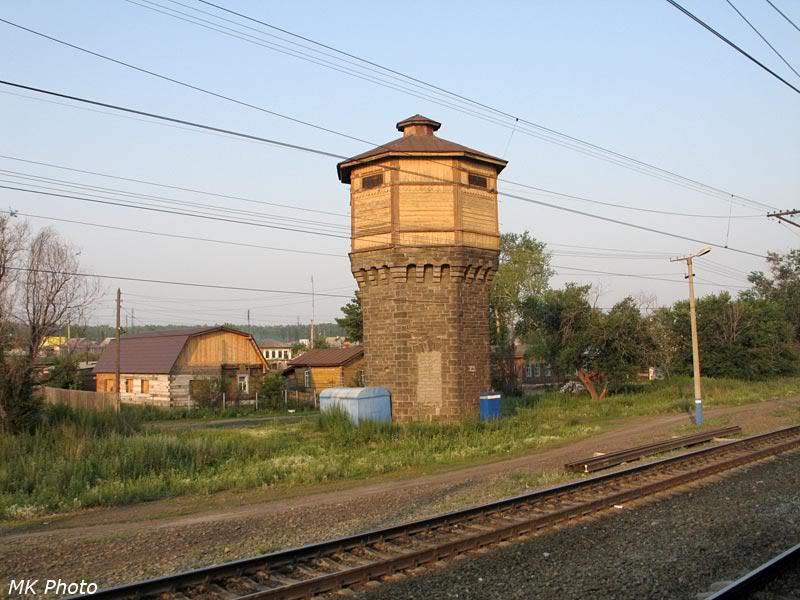 Водонапорная башня на ст. Бишкиль