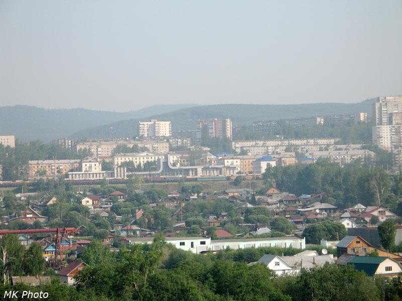 Вид на вокзал Златоуст с противоположного конца петли