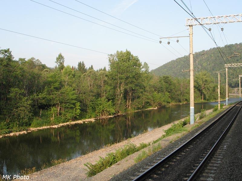 Железная дорога вдоль р. Сим