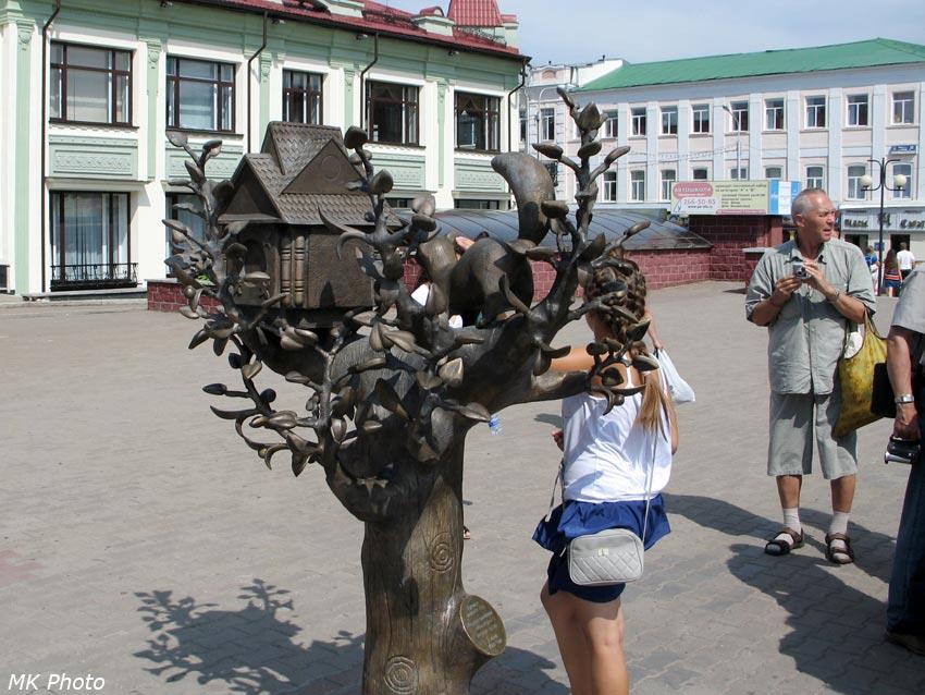 Памятник кунице - символу Уфы