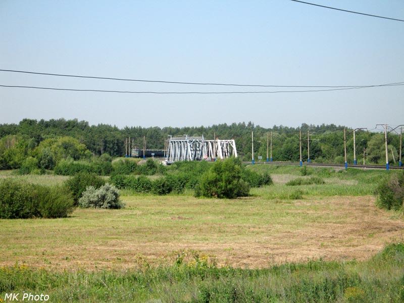 Вид на мост через р. Томышевка с о/п Старая Рощица