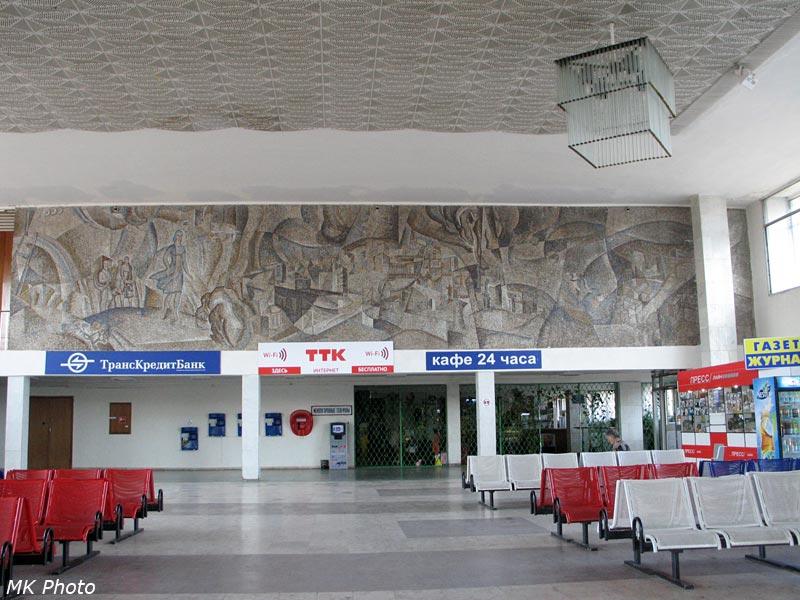 Изображение на стене в зале ожидания