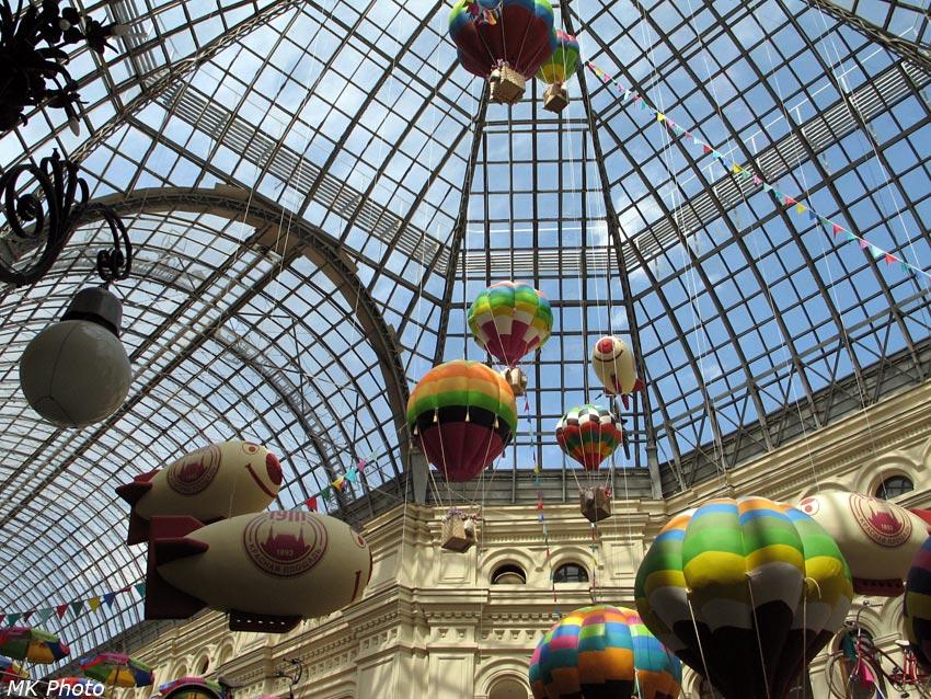 Воздушные шары в ГУМе