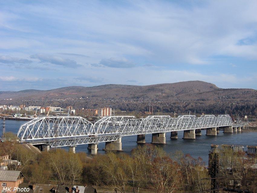 Ж/д мост через Енисей