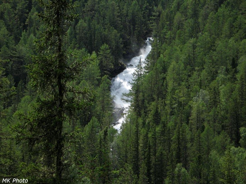 Водопад на р. Тегеек