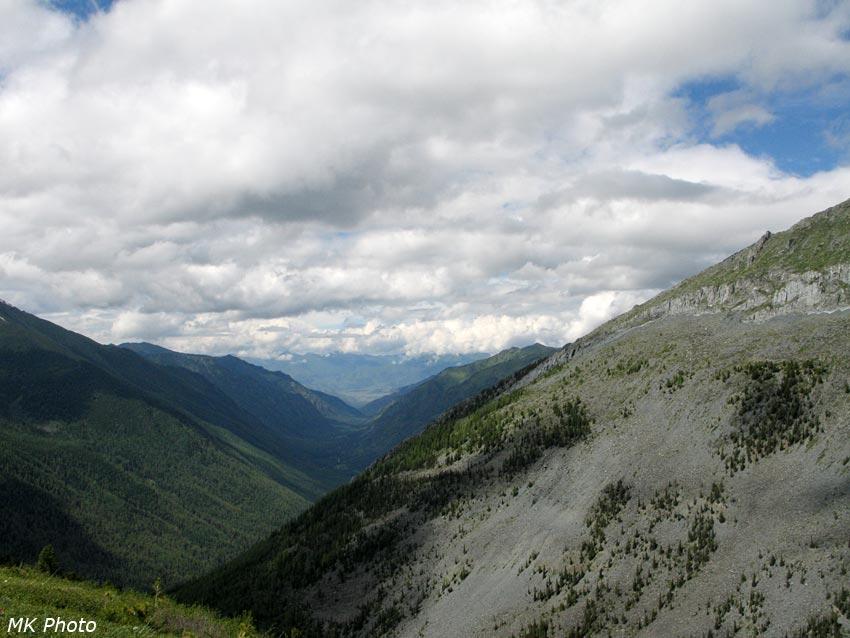 Долина Кучерлы и правый борт Текелюшки