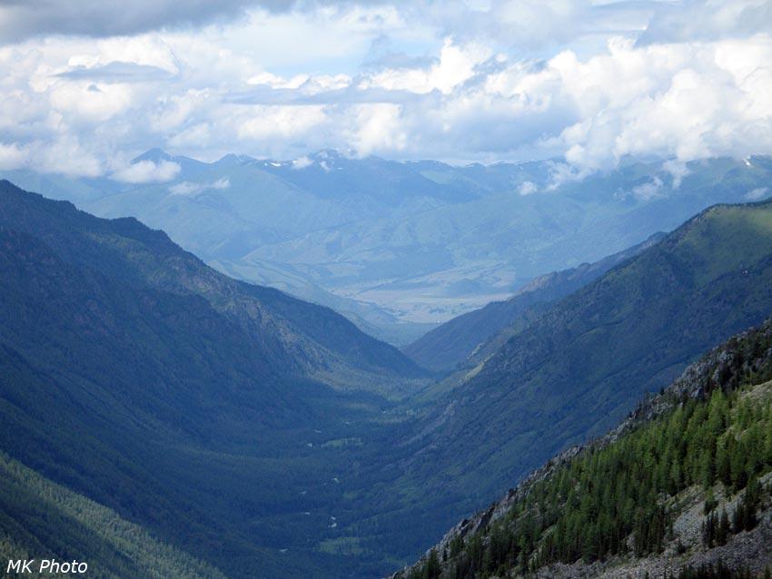 Вид на нижнее течение Кучерлы и Уймонскую долину