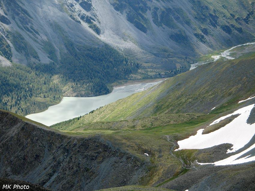 Озеро Аккем крупным планом