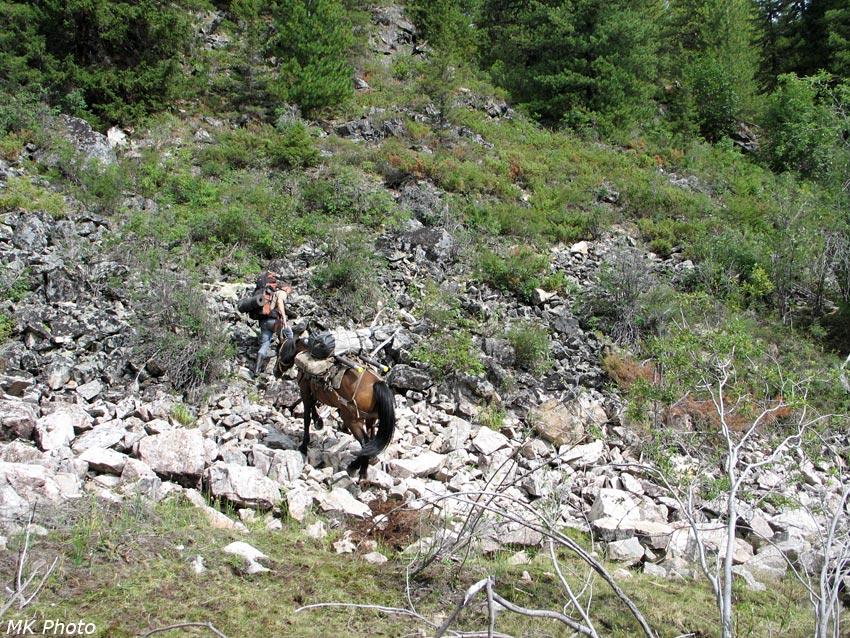 Подъём по каменистому склону