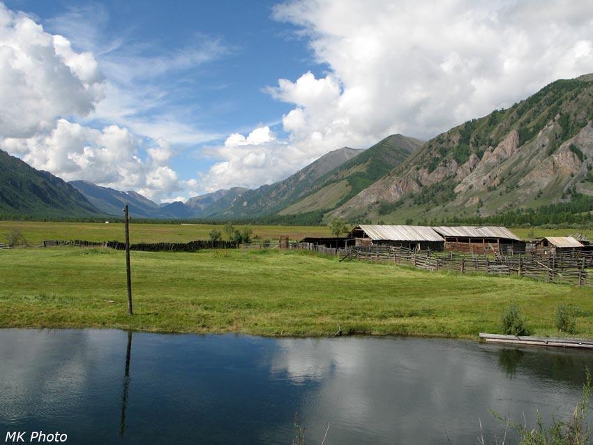 Вид вверх по долине Жомболока