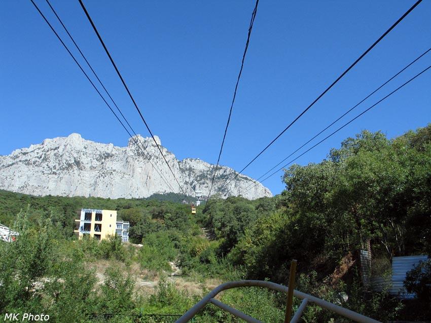 Вид с нижней станции дороги