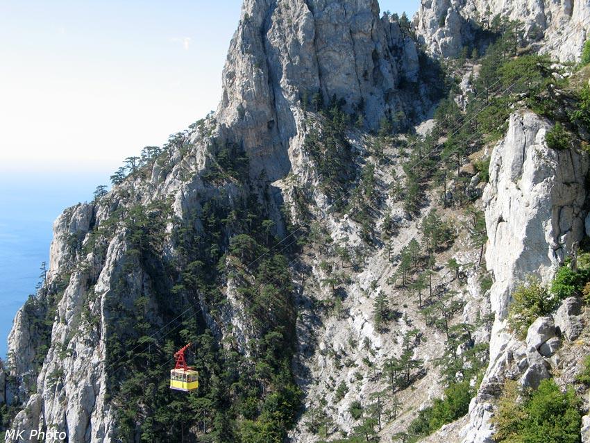 Вагончик на подходе к верхней станции