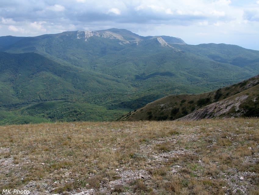 Вид на Демерджи яйлу и долину Ангары