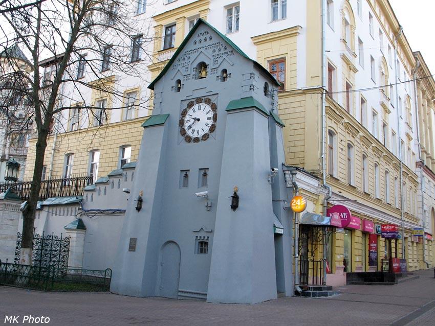 Часовая башня с банкоматом