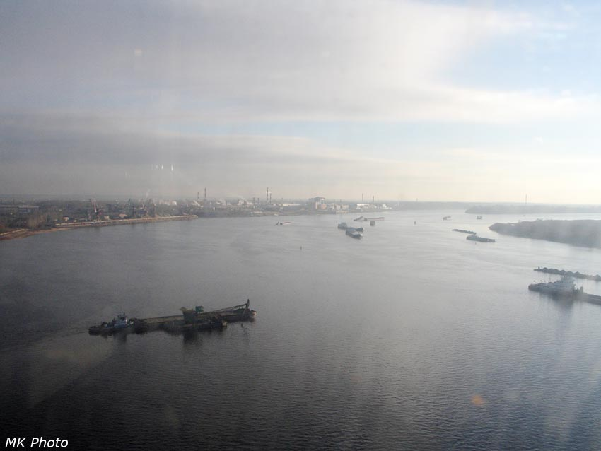Вид из кабины канатной дороги Нижний Новгород - Бор