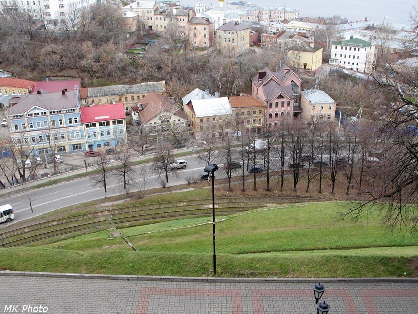 Вид на Зеленский съезд со стены кремля