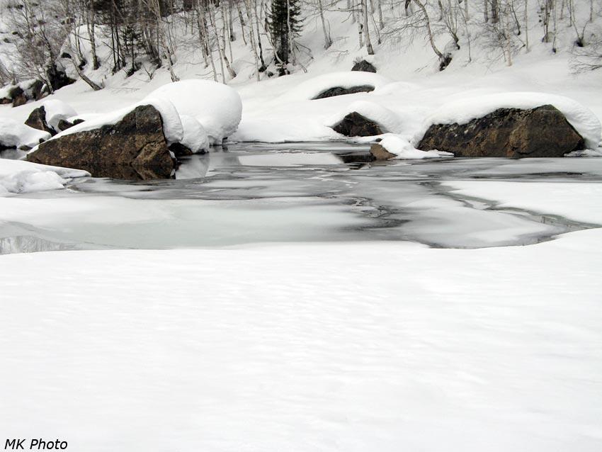 Протока между Большим и Малым Соболиными озёрами