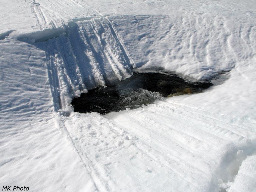 Разрушение ледовой дороги
