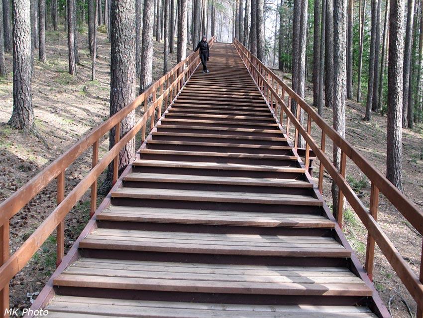 На лестнице к 1-м Столбу