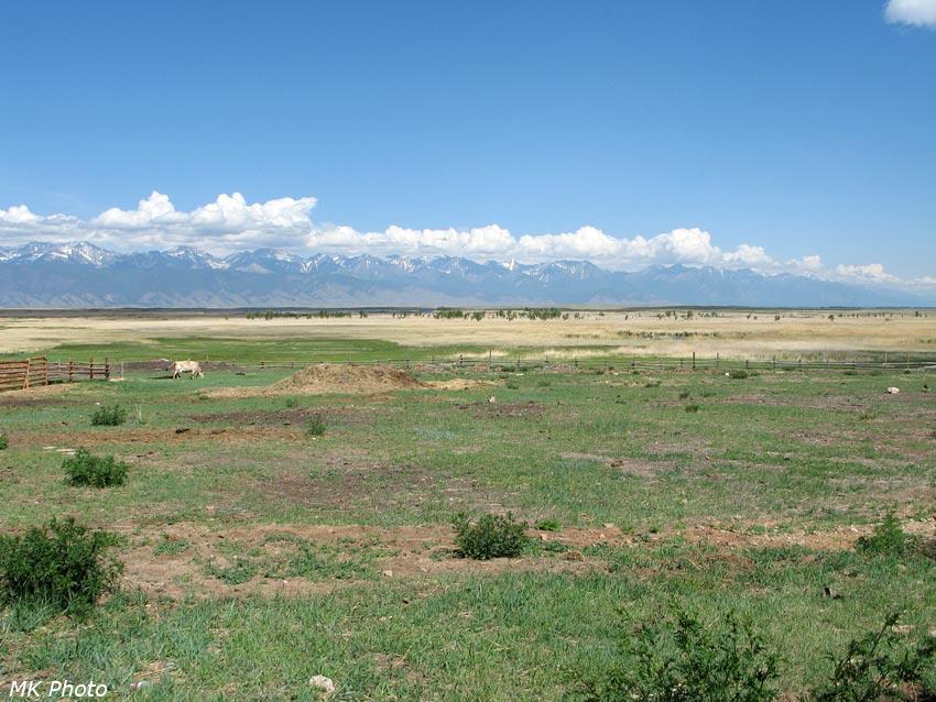 Вид из Баргузинской долины на Улюнский и Баргузинский хребты