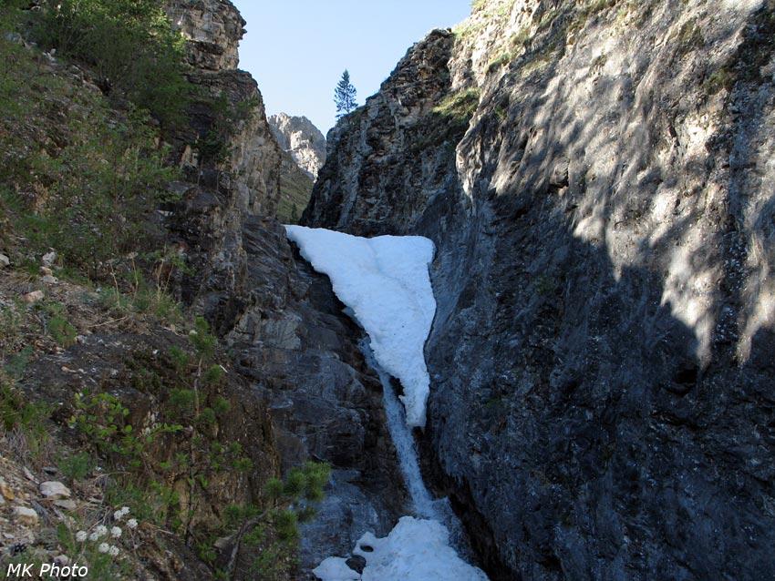 Водопад на левом притоке Аллы