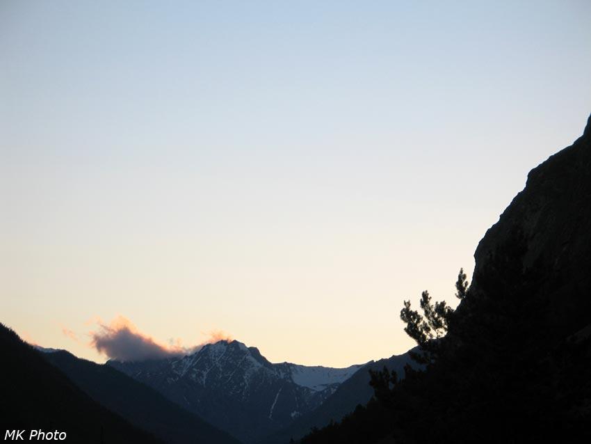 Верховья Аллы после заката