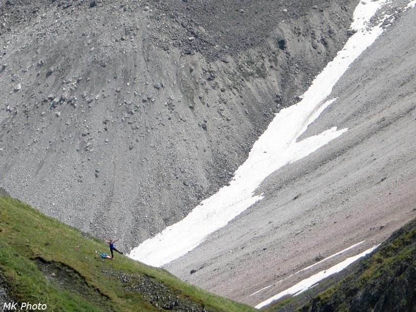 Катя на перевальном гребне