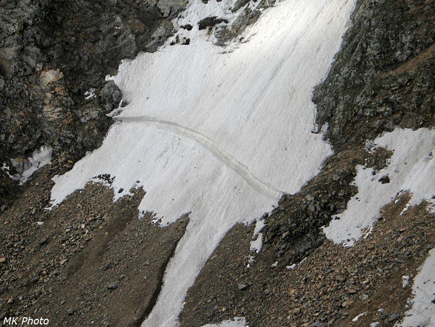 Линия отрыва лавины