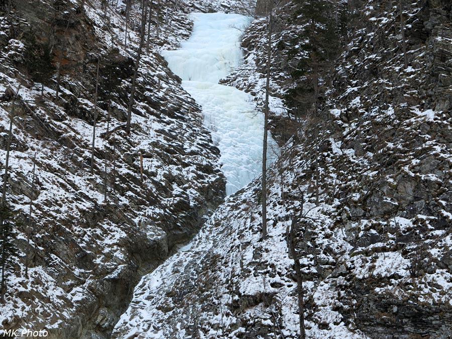 Ледопад на притоке Кынгарги