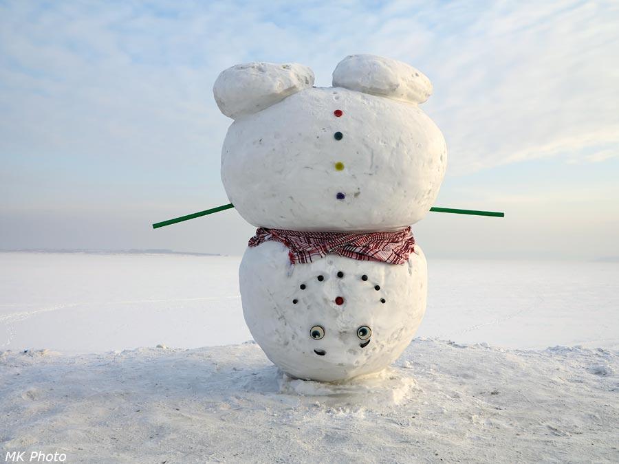Йог-снеговик