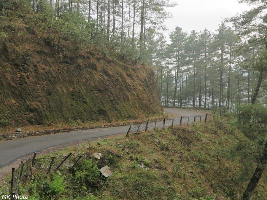 Дорога у посёлка Джири
